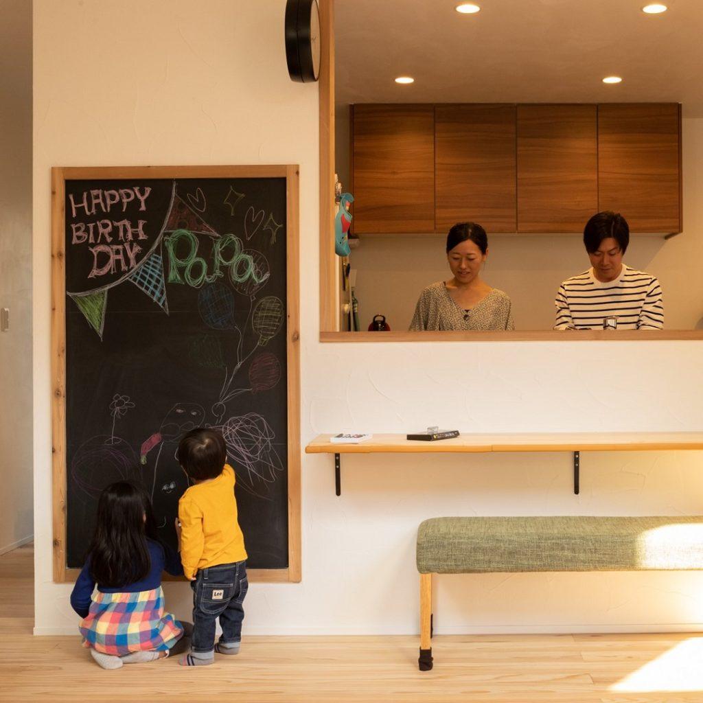 新築の、子供落書き対応。