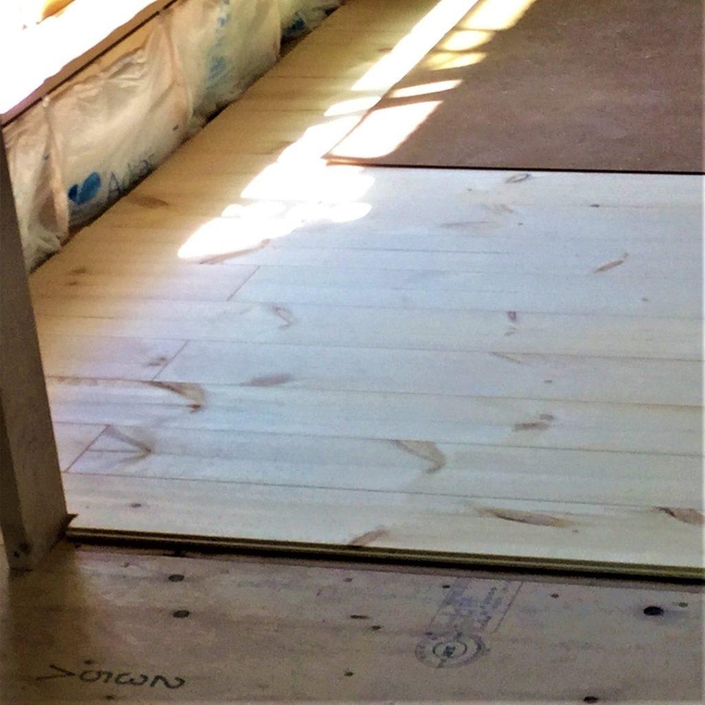 2003 株式会社渋沢 深谷市 自然素材の家 施工現場 ロシアンパイン 無垢材