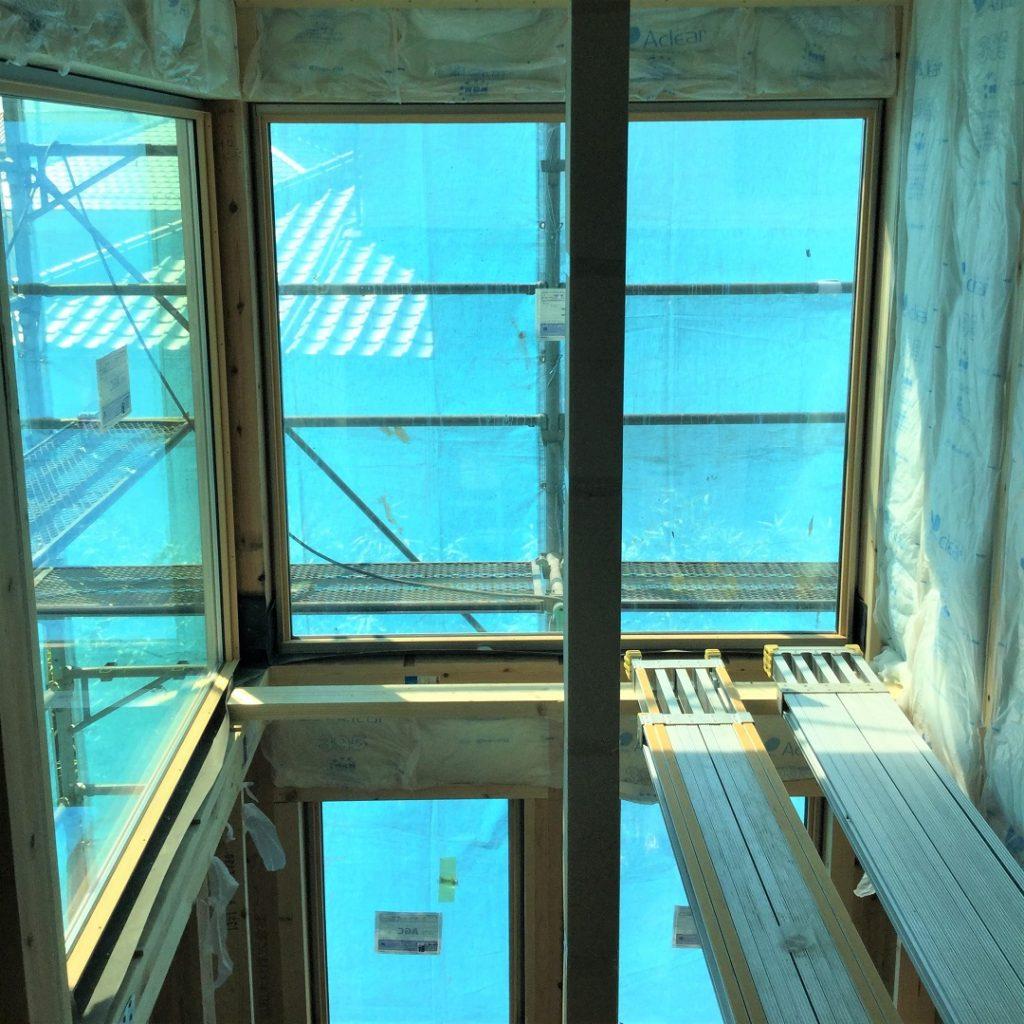 2003 株式会社渋沢 深谷市 自然素材の家 施工現場 吹き抜け